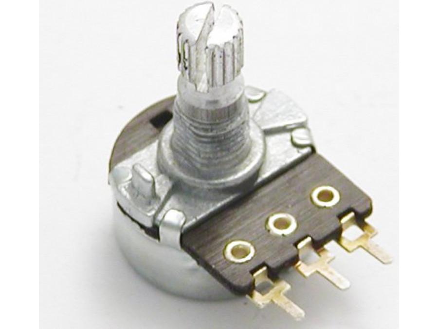 Potencjometr ośka 1*470K B 16mm LOGARYTMICZNY