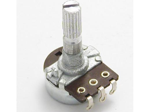 Potencjometr ośka 2,2K B logarytmiczny L-25mm
