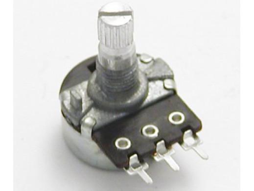 Potencjometr ośka 4,7K A liniowy L-16mm Telpod