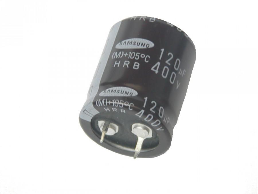 Kondensator elektrolityczny 120uF/400V 105C