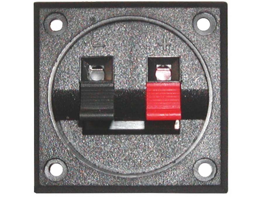 Gniazdo głośnikowe 2 PIN kwadrat