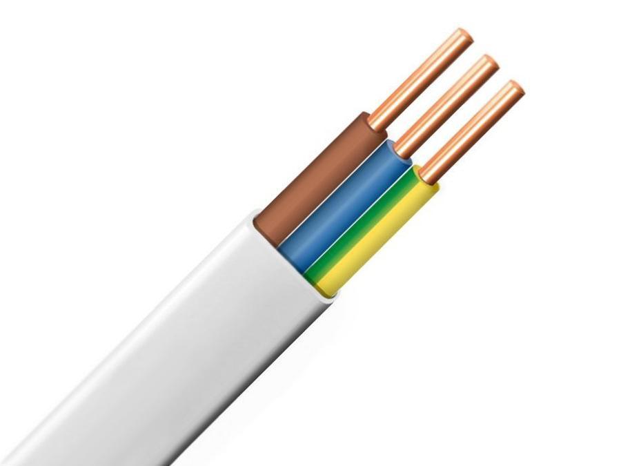 Kabel prądowy YDYP 3*2,5mm płaski drut