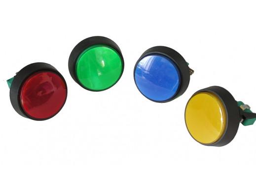 Przełącznik przyciskowy 60mm okrągły podświetlany mix