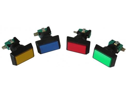 Przełącznik przyciskowy prostokąt podświetlany mix