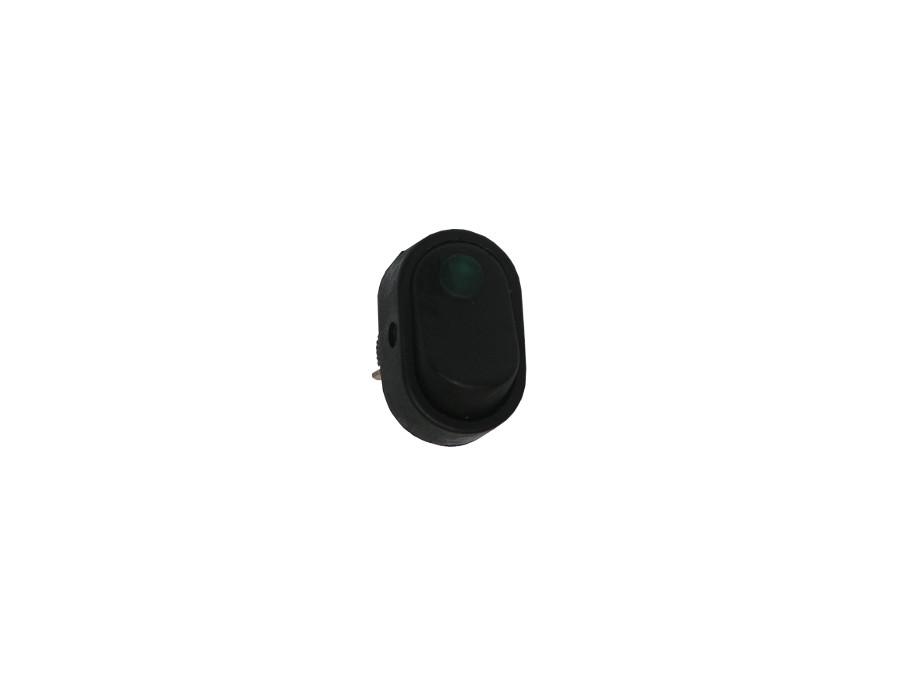 Przełącznik klawiszowy podświetlany 2 pozycje 3 piny 12VDC 30A kropka czerwony lub niebieski AWD-20D