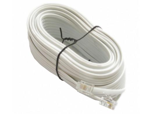 Przewód telefoniczny 4PIN 15M biały