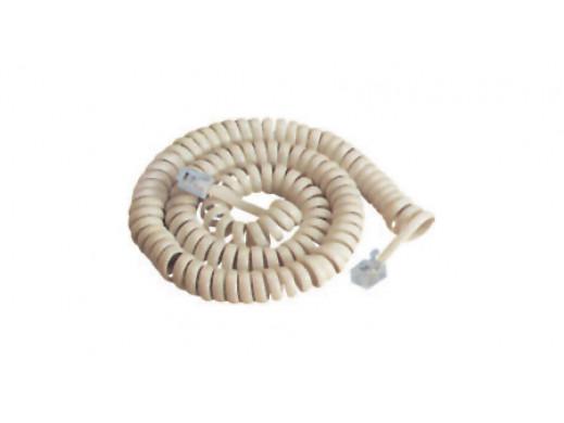 Przewód telefoniczny 2.1m spirala słuchawki czarny