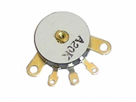 Potencjometr obrotowy do walkman'a 1*20K - A z wyłącznikiem fi-12