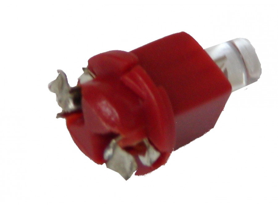 DIODA LED SAMOCH 5mm CZERWONA BAX 7X12 W OPRAWCE 1