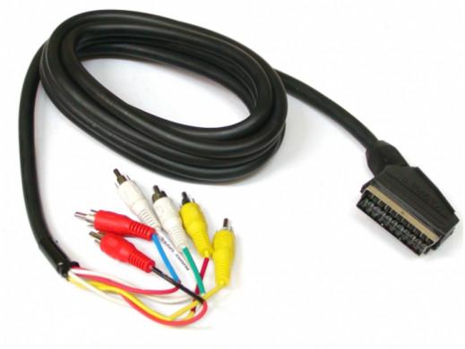 Przewód, kabel Euro-6*cinch 3m