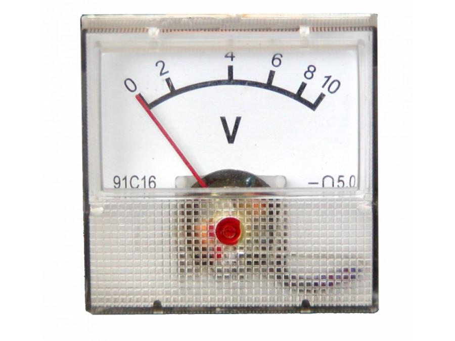 Voltomierz analogowy 10V kwadrat