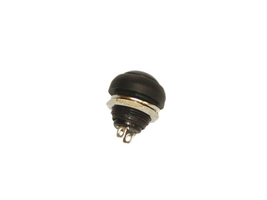 Przełącznik chwilowy okrągły zwierny czarny pchełka czarny