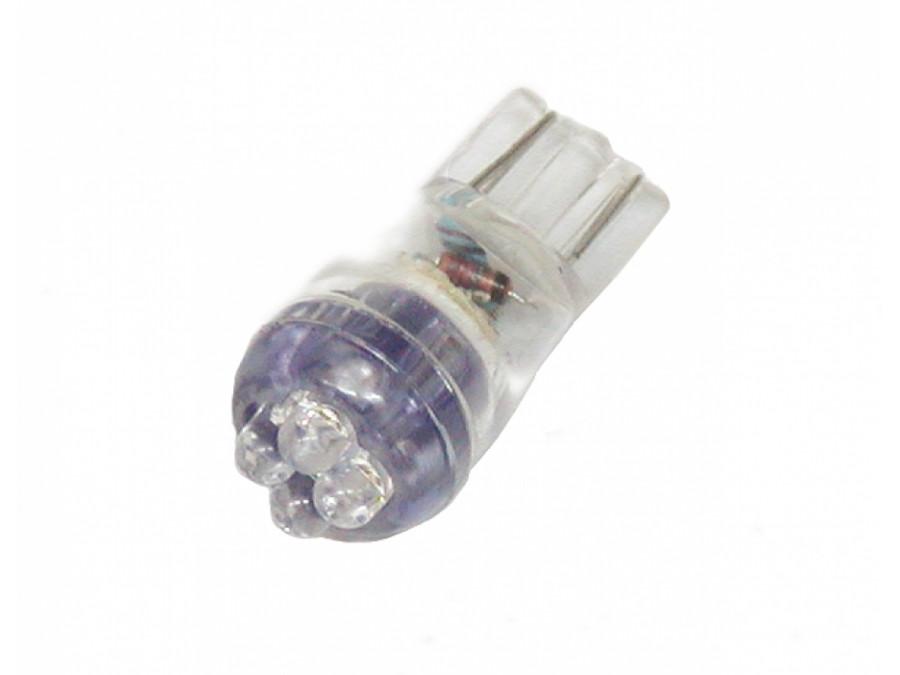 Dioda LED samochodowa 10mm UV 4 LED 12V 194-4UV