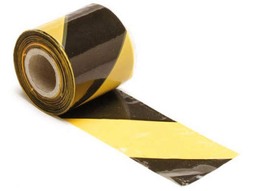 BLACK/YELLOW SAFETY TAPE -...