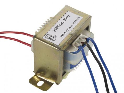 Transformator 12V, 2 x 1000mA