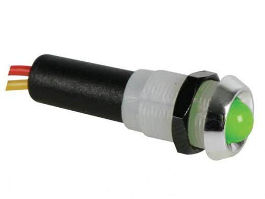 LED LAMP 5V GREEN - CHROME...