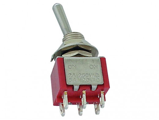 VERTICAL TOGGLE SWITCH DPDT...