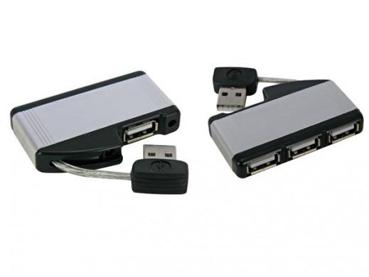 MINI TRAVEL USB 2.0 HUB, 1...
