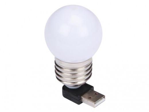 LAMPKA USB Z ŻARÓWKĄ LED