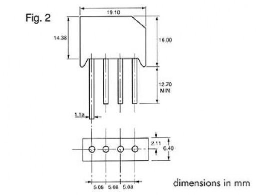 BRIDGE RECTIFIER 200V-4A...