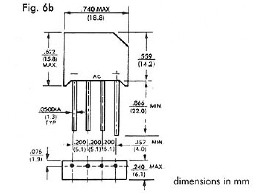 BRIDGE RECTIFIER 200V-6A...