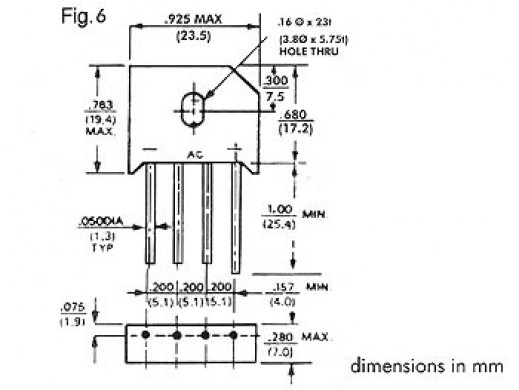 BRIDGE RECTIFIER 800V-6A...