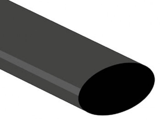 SHRINKABLE TUBE 25.4mm - BLACK