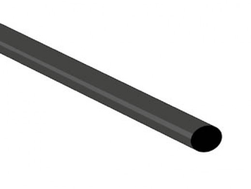SHRINKABLE TUBE 4.8mm - BLACK