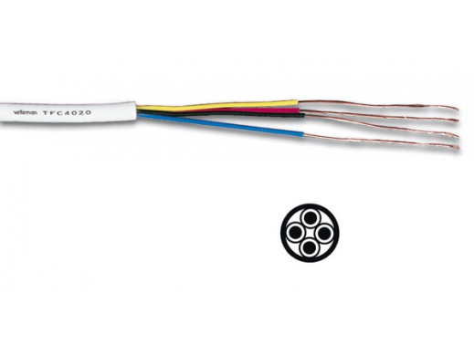 TELEPHONE CABLE 4 x 0.20mm...