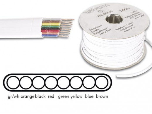 TELEPHONE CABLE 8 x 0.08mm...