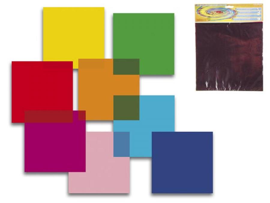 Zestaw kolorowych filtrów foliowych