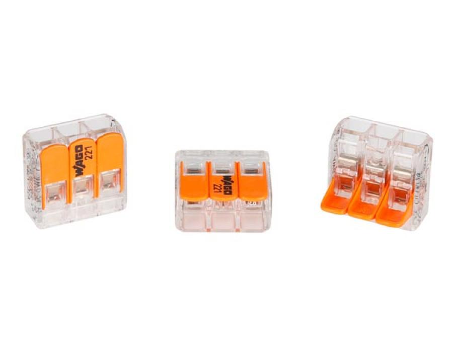 ZŁĄCZKA INSTALACYJNA COMPACT 3 x 0,2 - 4 mm² DO WSZYSTKICH RODZAJÓW PRZEWODÓW