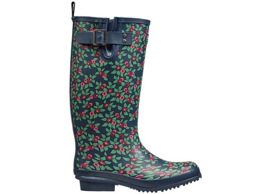 Plum Floral Rubber Boots...