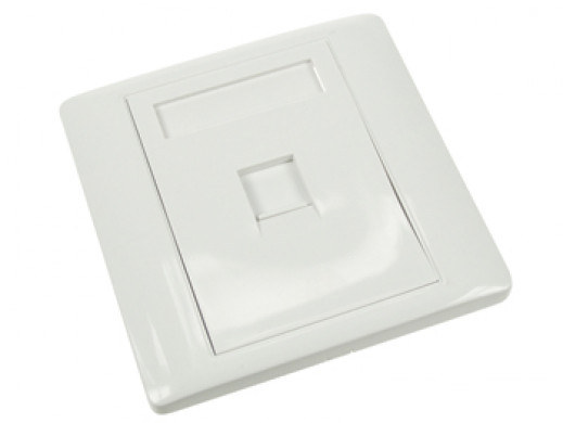 WALL PLATE 1 PORT, WHITE