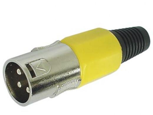 3-PIN MALE XLR PLUG -...