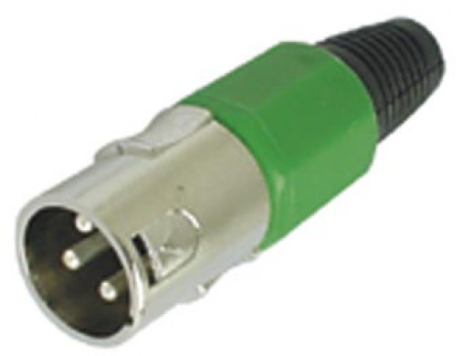 3P MALE XLR PLUG - NICKEL -...