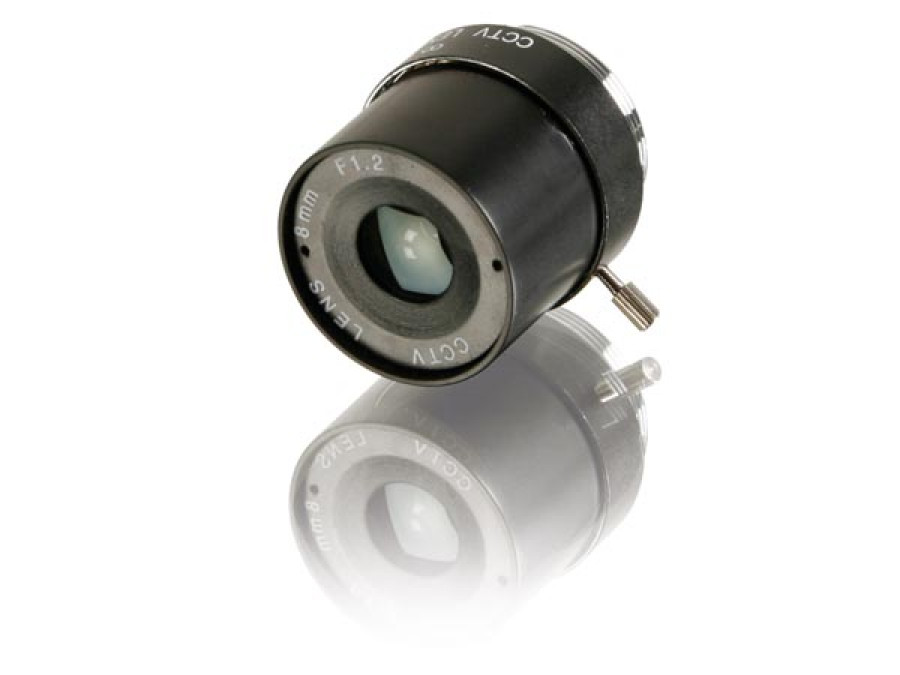 TELEOBIEKTYW CCTV 8mm / f1.6