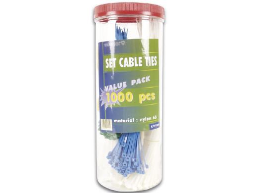 Komplet 1000 opasek kablowych