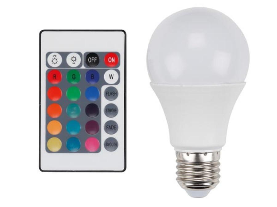 LAMPA LED - PEAR - 7,5 W - E27 - RGB I CIEPŁY BIAŁY