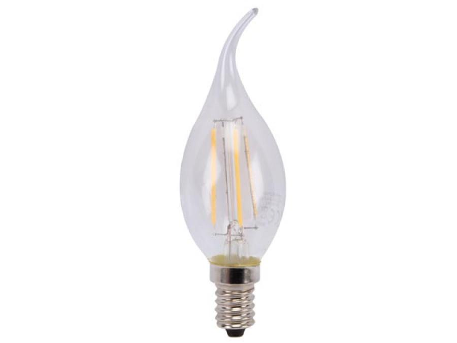 ŻARÓWKA LED - W KSZTAŁCIE PŁOMIENIA - 5 W - E14 - CIEPŁY BIAŁY