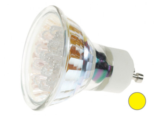 YELLOW GU10 LED LAMP - 240VAC