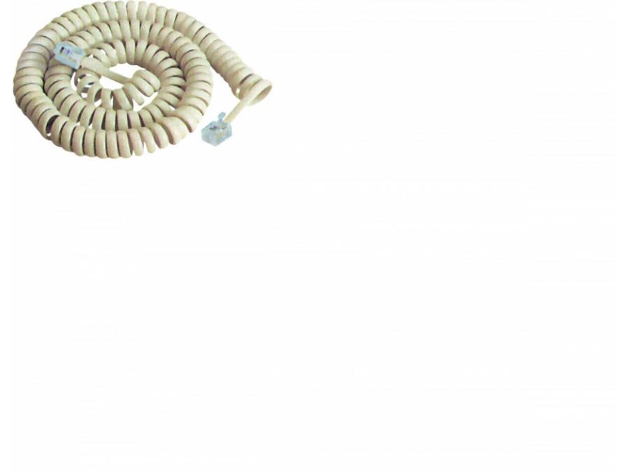 Przyłącze telefoniczne 7 ft biały