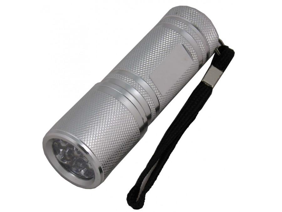 Latarka ręczna 9-LED VIPOW srebrna