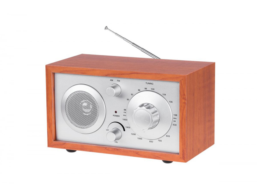 Drewniane radio AM / FM...