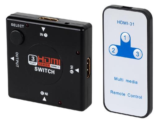 Switch HDMI 3/1 z pilotem