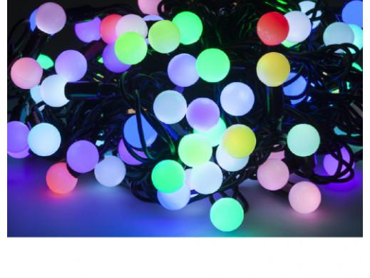 Lamki choinkowe LED RGB -...