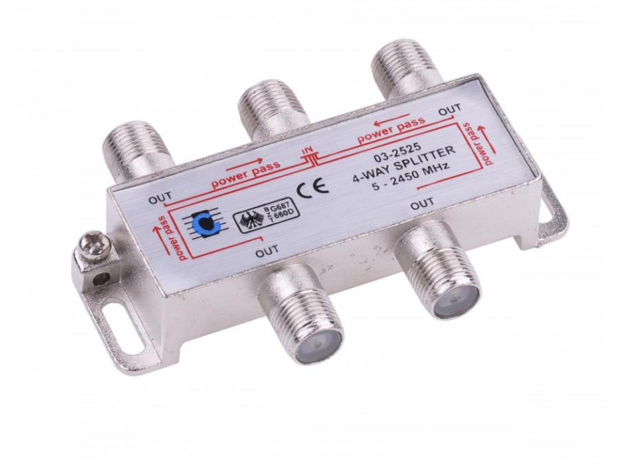 Splitter 4way 5-2450MHz