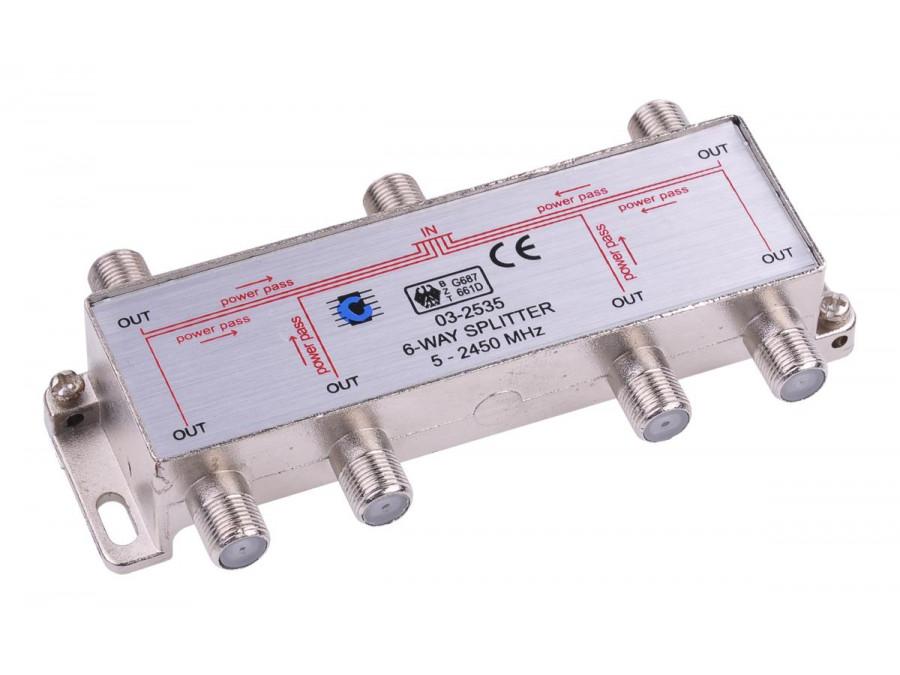 Splitter 6way 5-2450MHz