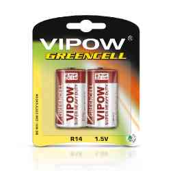 Baterie VIPOW GREENCELL R14 2szt/bl