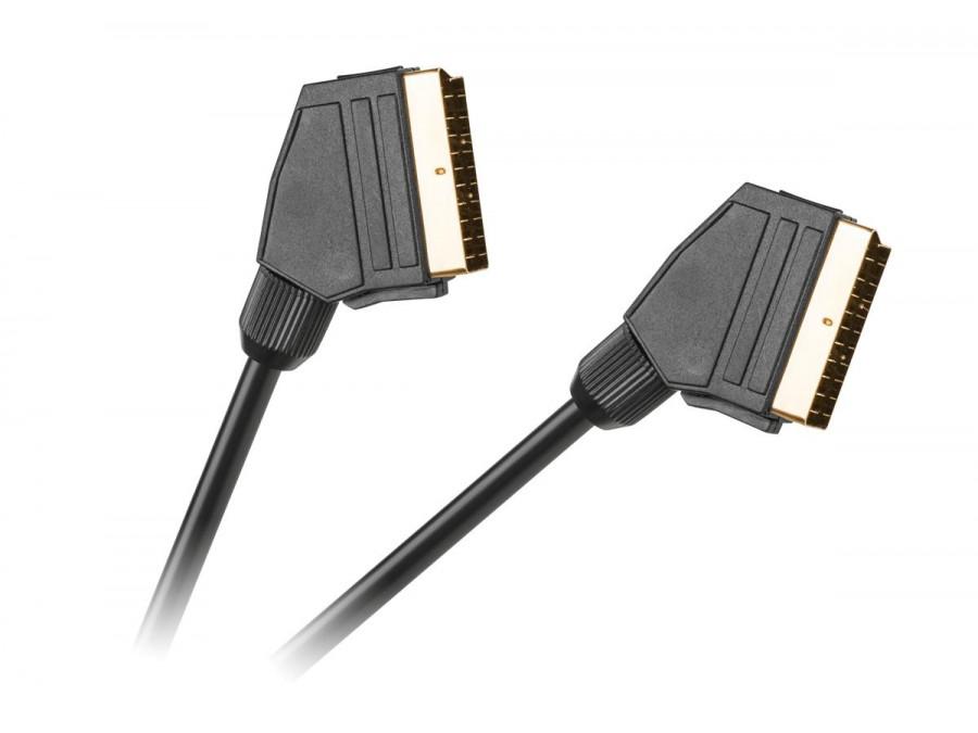 Kabel EURO - EURO 21pin czarny  HQ 3m